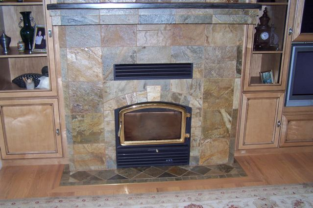 60 Airpark fireplace